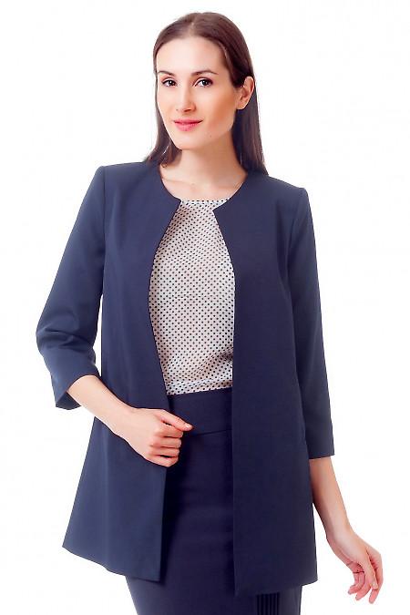 Жакет-кардиган темно-синий.  Деловая женская одежда