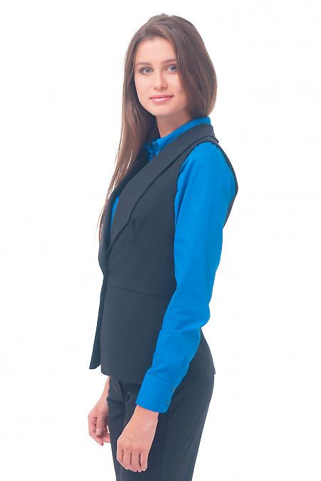 Купить жилет черный женский удлиненный Деловая женская одежда