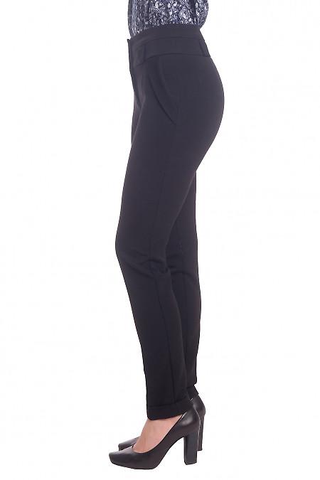 Черные теплые брюки фото