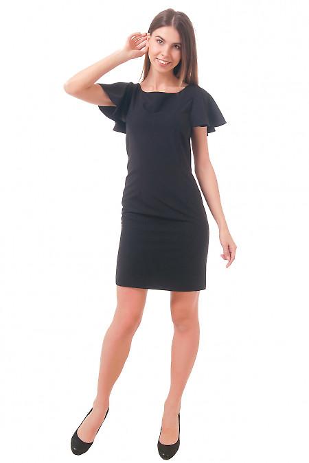 Фото Платье черное с крылышками Деловая женская одежда