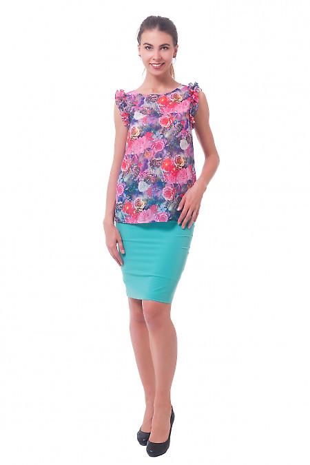 Купить бирюзовую юбку-карандаш Деловая женская одежда