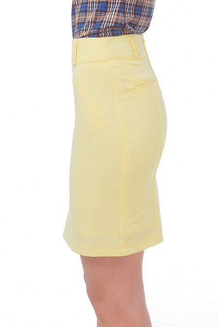 Купить юбку желтую с карманами обманками Деловая женская одежда