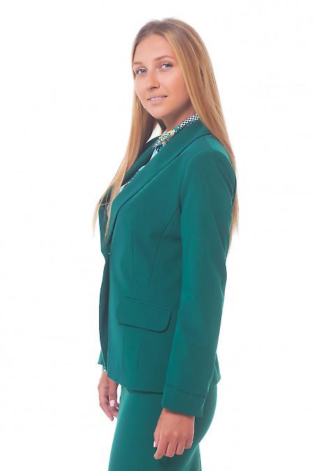 Купить женский зеленый жакет Деловая женская одежда