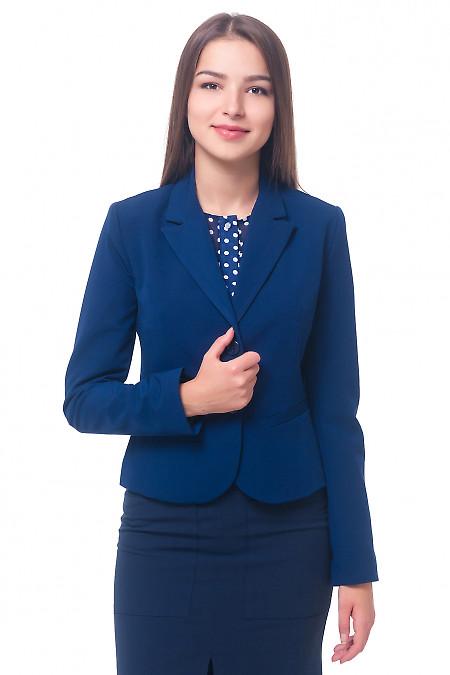Жакет женский синий классический. Деловая женская одежда