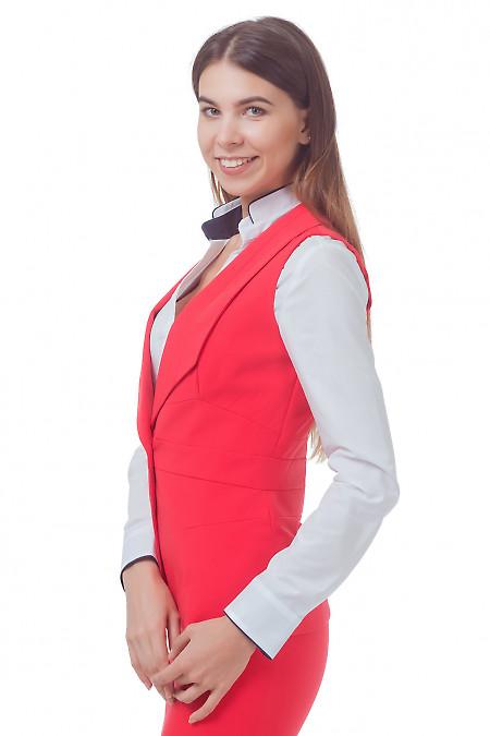 Купить жилет удлиненный коралловый Деловая женская одежда
