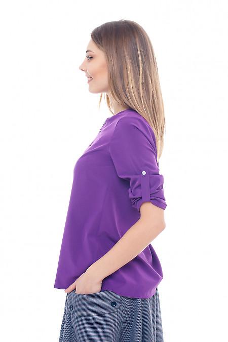 Фиолетовая нарядная блузка из софта