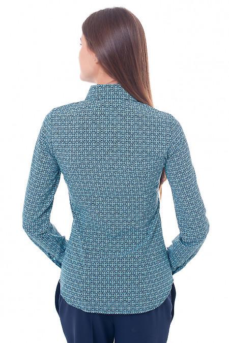 Синяя блуза из софта