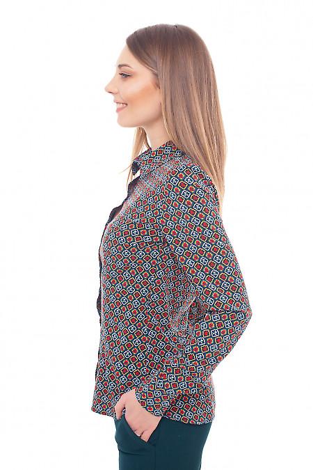 Блуза из софта в красный узор
