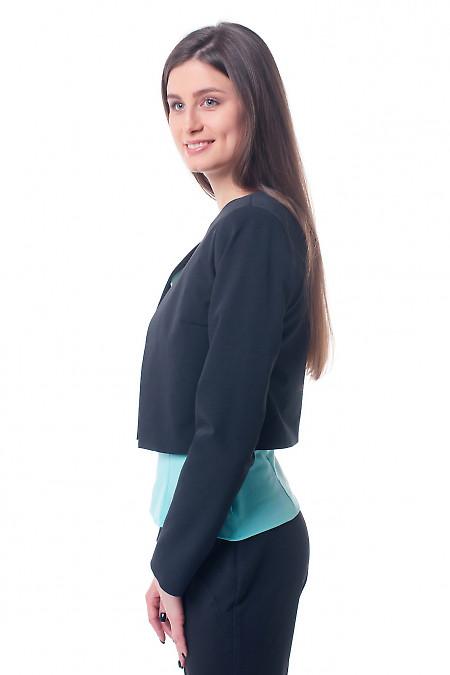 Купить кардиган черный короткий Деловая женская одежда фото