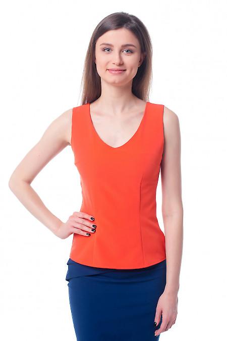 Оранжевый топ. Деловая женская одежда фото