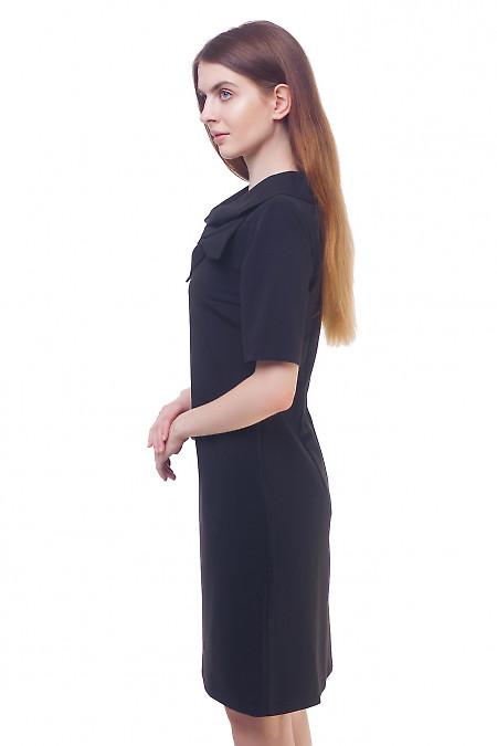 Купить черное платье с бантом Деловая женская одежда
