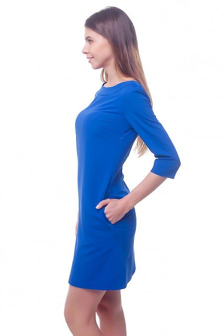 Купить платье электрик с круглой горловиной Деловая женская одежда фото