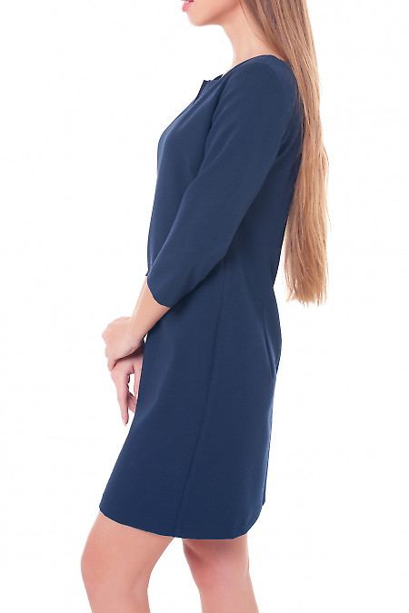 Деловое синее платье фото