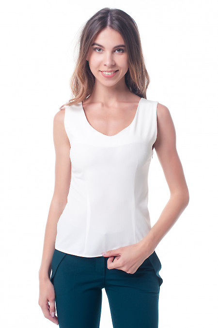 Топ молочный, приталенный Деловая женская одежда фото