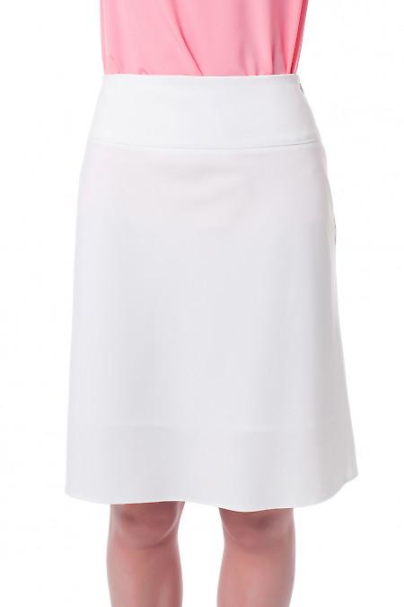 Юбка-клеш белая. Деловая женская одежда фото