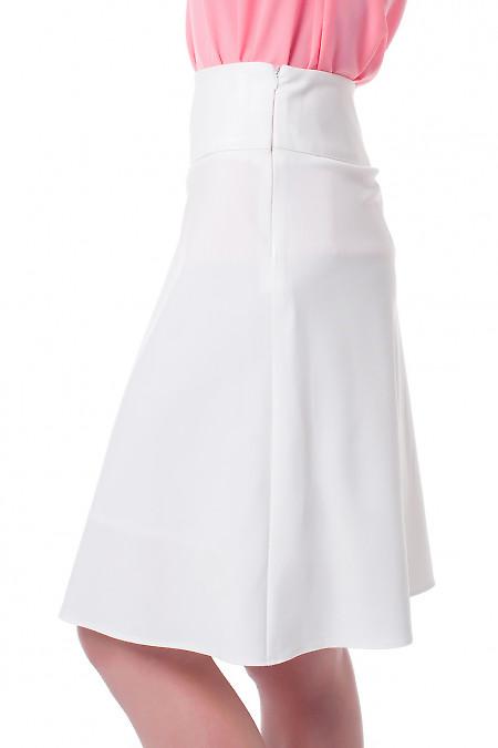 Нарядная белая женская юбка