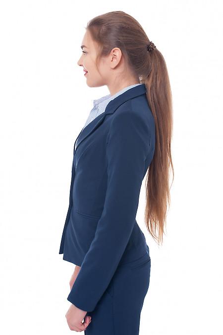 Деловая женская одежда Жакет синий фото