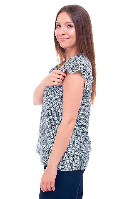 Купить блузку молочную в колесики Деловая женская одежда фото