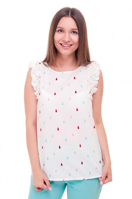Блузка с рюшем в капельку Деловая женская одежда фото