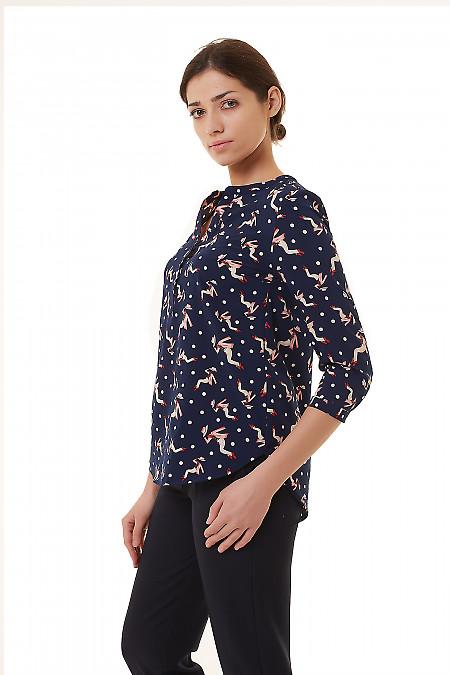 Купить блузку в гламурный узор Деловая женская одежда фото