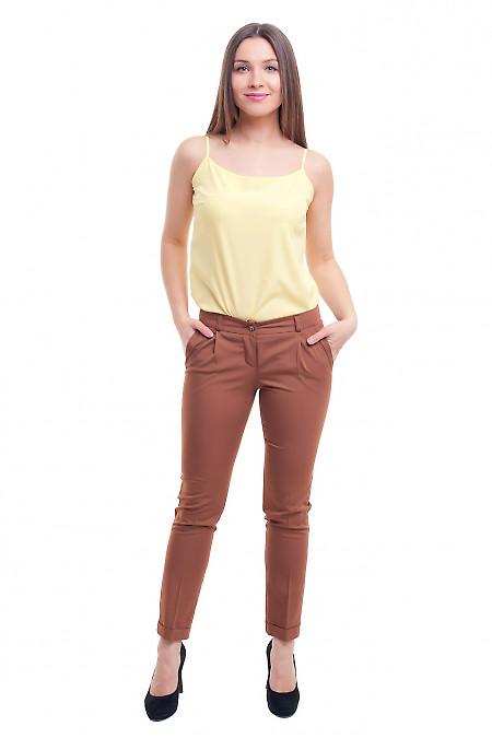 Женские коричневые брюки