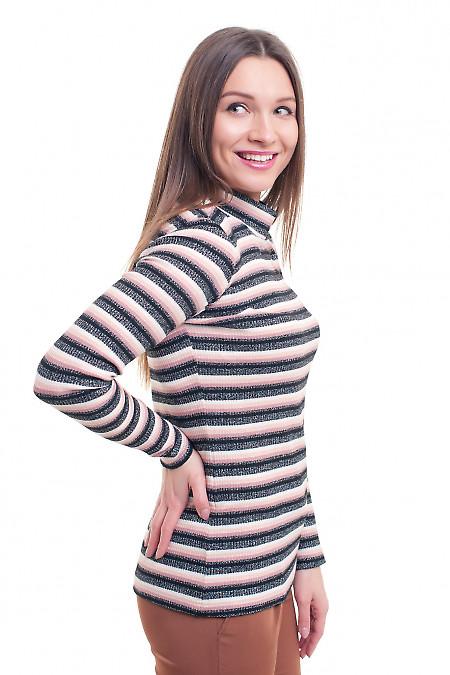 Купить гольф полосатый с люрексом Деловая женская одежда фото