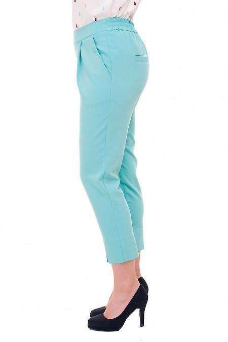 Купить капри бирюзовые на резинке Деловая женская одежда фото
