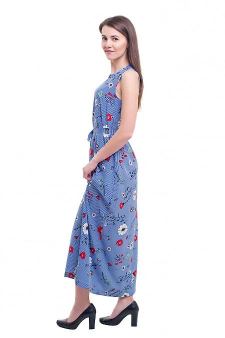 Купить летнее полосатое платье в пол Деловая женская одежда фото