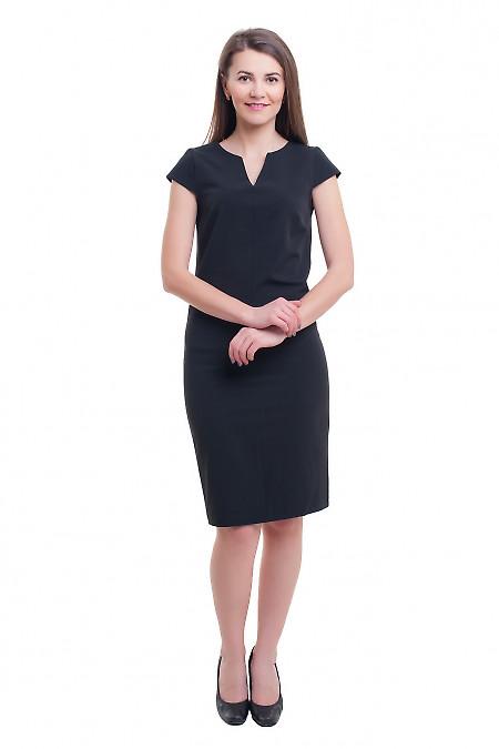 Купить платье чёрное со строчкой впереди Деловая женская одежда фото