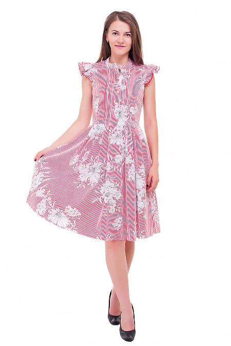 Купить полосатое платье с рукавчиком Деловая женская одежда фото