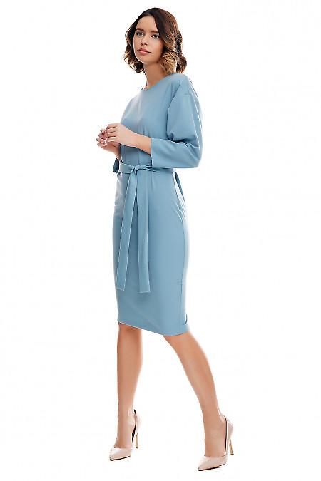 Деловое платье из костюмной ткани