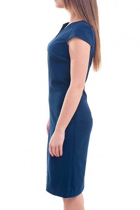 Купить платье синее со строчкой впереди Деловая женская одежда фото