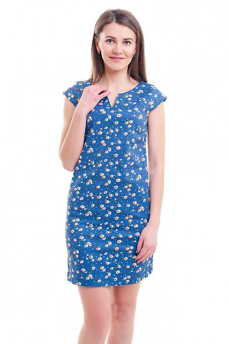 Сарафан синий в белую ромашку. Деловая женская одежда