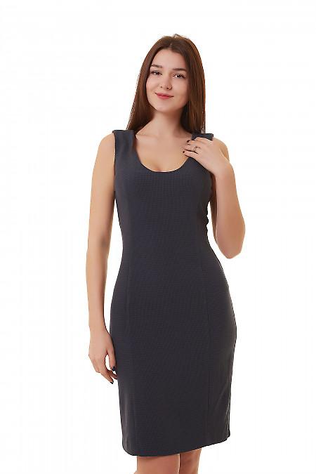 Сарафан синий в лапку  Деловая женская одежда фото
