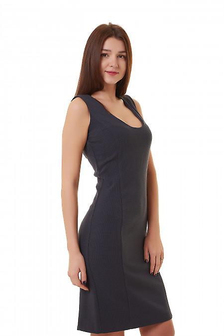Купить сарафан синий в лапку Деловая женская одежда фото