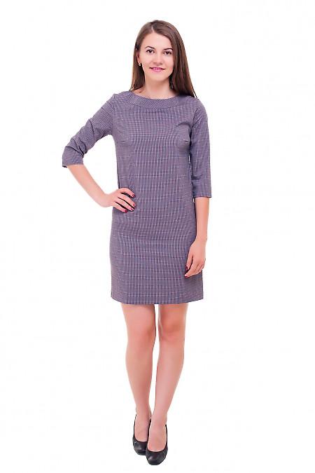 Купить строгое платье в красную мелкую клеточку Деловая женская одежда фото