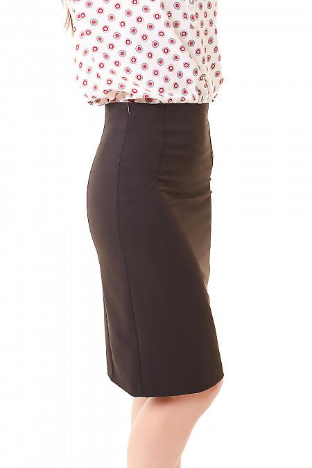 Купить юбку-карандаш черного цвета Деловая женская одежда фото