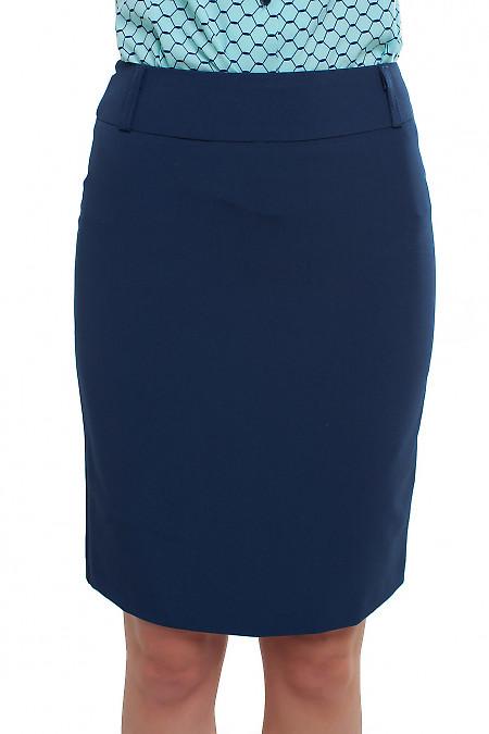 Юбка коротенькая темно-синяя Деловая женская одежда фото