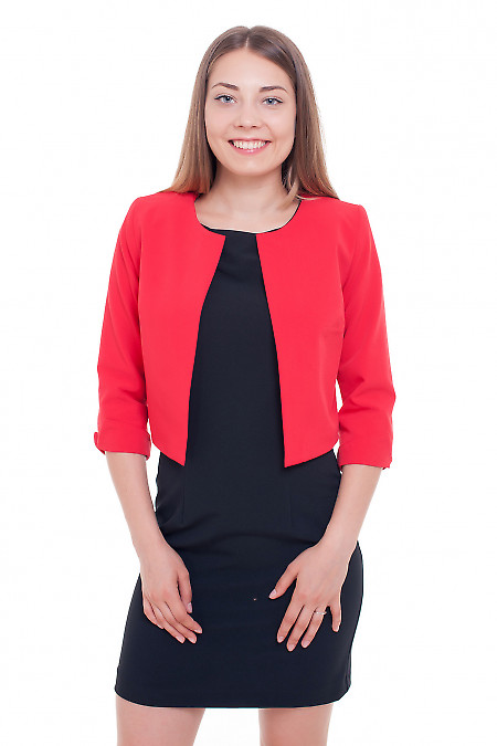Жакет-болеро красный Деловая женская одежда фото