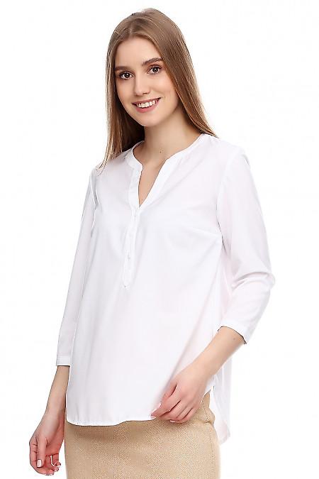Купить красивую белую блузку Деловая женская одежда фото