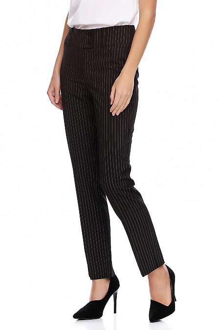 Купить полосатые женские брюки. Деловая женская одежда фото