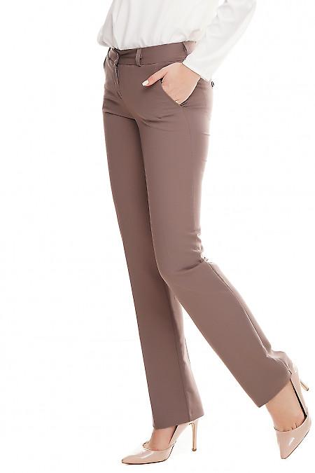 Деловые брюки сиреневого цвета