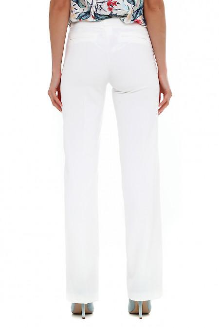 Летние брюки молочного цвета