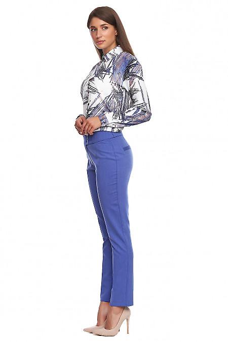 Сині брюки під джинс фото