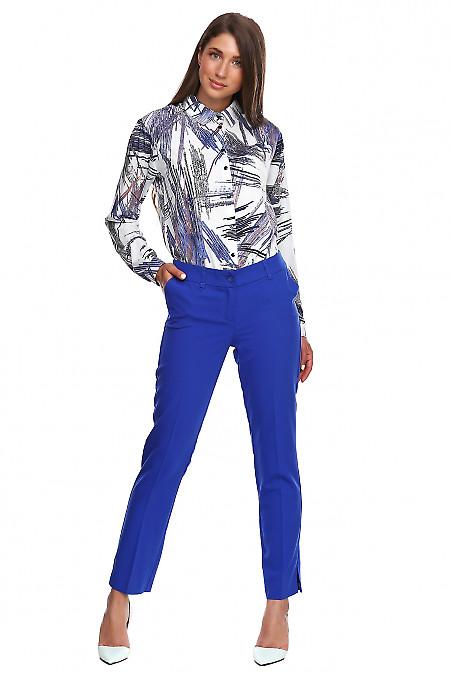 Женские брюки цвета электрик