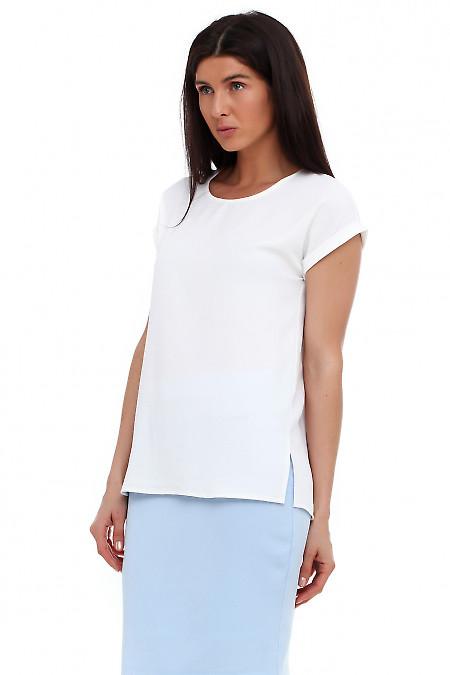 Купить белую футболку. Деловая женская одежда фото