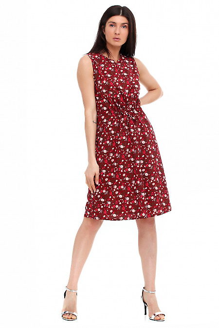 Платье бордовое с мысиком. Деловая женская одежда фото