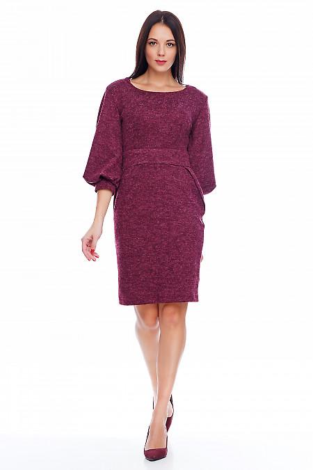 Платье бордовое трикотажное Деловая женская одежда фото