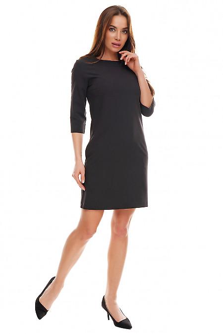 Свободное платье черного цвета