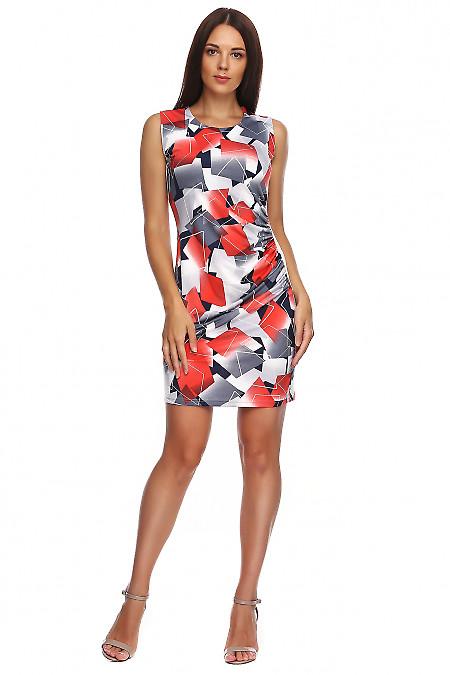 Платье из масла с драпировкой сбоку. Деловая женская одежда фото